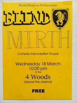 The FIRST Blind Mirth programme. Isn't it awesome?