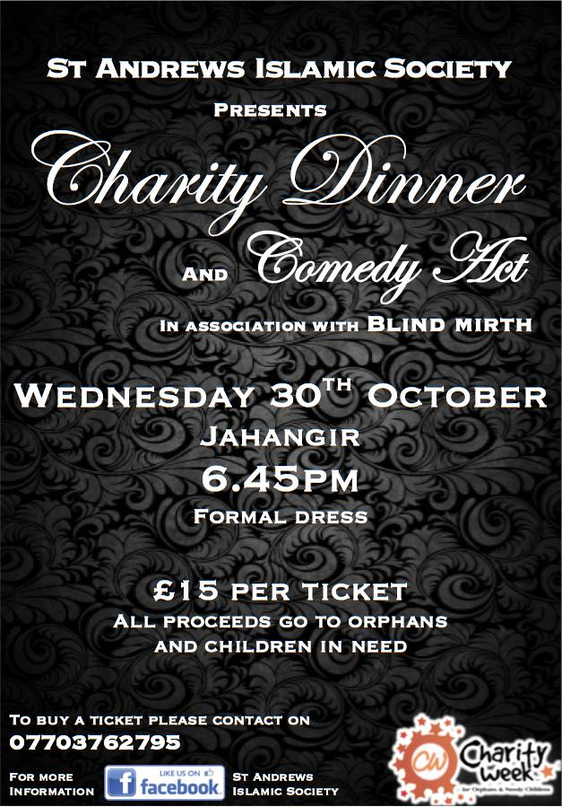 Blind Mirth performig at St Andrews Islamic Society's Charity Gala this Wednesday!